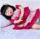 Boneca Bebê Tipo Reborn Super Realista - Kit Acessórios - Kaydora brinquedos