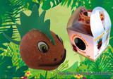 Boneco Ecológico Dinossauro - Horta e jardim
