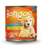 Bongos Cão Adulto Fardo com 12 Latas de 280gr cada Patê de Frango - Pet bom
