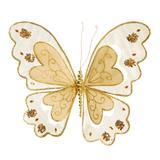 Borboleta decorativa ouro : 1413233 Alt. 25,00 x Larg. 23,00 PT C/5 UN - Cromus