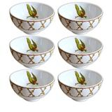 Bowl de cerâmica Parrots Scalla 6 peças 460 ml - 23883