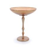 Bowl redondo em vidro dourado com suporte alto em alumínio dourado: 1519670 - Cromus