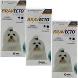Bravecto Cães 2 a 4,5kg KIT 3 unid Antipulgas e Carrapatos MSD