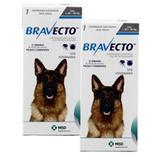 Bravecto Cães 20 a 40kg KIT 2 unid Antipulgas e Carrapatos MSD