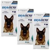 Bravecto Cães 20 a 40kg KIT 3 unid Antipulgas e Carrapatos MSD