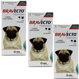 Bravecto Cães 4,5 a 10kg KIT 3 unid Antipulgas e Carrapatos MSD