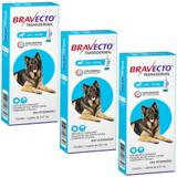 Bravecto Transdermal Cães 20 a 40kg Kit 3 unidades Antipulgas MSD