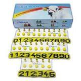 Brinco bovino e ovino numeração de 01 a 25 c/ 25 unidades - Crisan
