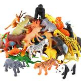 Brinquedo Kit Mini Animais Realista Selvagem Valefortoy de Plástico com 54 Peças de Animais da Selva - Outras marcas