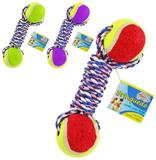 Brinquedo para cachorro com 2 bolas e corda - Western