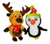 Brinquedo Pelúcia Para Cães Pinguim E Alce Pet - T petz