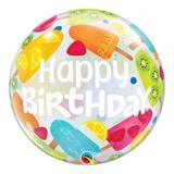 Bubble 22 polegadas - aniversário com sorvetes - qualatex