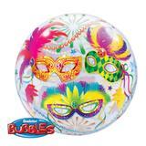 Bubble 22 polegadas - máscara de carnaval - qualatex