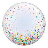 Bubble decorativo 24 polegadas - pontos de confete coloridos - qualatex