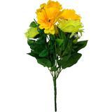 Buquê Artificial Crisântemo Amarelo 35 cm - Kasacia