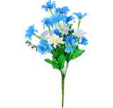 Buquê Artificial Crisantemo Azul e Branco 36 cm - Kasacia