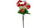 Buquê Artificial Crisantemo Vermelho e Branco 32 cm - Kasacia