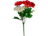 Buquê Artificial Crisantemo Vermelho e Branco 35 cm - Kasacia