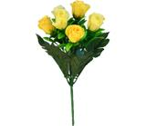 Buquê Artificial Rosa Amarela 28 cm - Kasacia