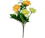 Buquê Artificial Rosa Amarela 35 cm - Kasacia