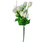 Buquê Artificial Rosa Branca 38 cm - Kasacia