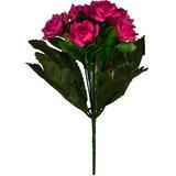 Buquê Artificial Rosa Paixão 28 cm - Kasacia