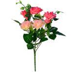 Buquê Artificial Rosa Rosa Claro 35 cm - Kasacia
