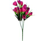 Buquê Artificial Tulipa Bordô 35 cm - Kasacia