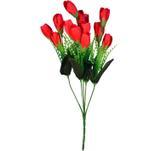 Buquê Artificial Tulipa Vermelha 35 cm - Kasa  cia