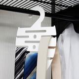 Cabide Para Gravatas e Cintos Branco - Metaltru