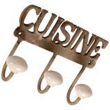 Cabideiro de Metal Decorativo Cuisine II - Maria pia casa