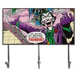 Cabideiro de Vidro com 3 Ganchos - DC Comics - Coringa - 40x23cm - Colorido - Metrópole