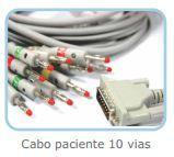 Cabo Paciente com 10 vias Tipo Banana para Eletrocardiógrafo  - BIONET - Bionet / macrosul