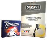 Cabos Vela 8mm + Jogo Velas Iridium Astra 2.0 04 A 08 - Ngk