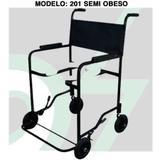 Cadeira Banho Semi-Obeso Preto 201 Cds