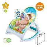 Cadeira Bebê Descanso Vibratória Musical Balanço Até 18kg Zoop Toys