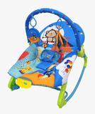 Cadeira Bebê Musical Vibratória Balanço 18 Kg Rocker - Azul - Color Baby