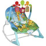 Cadeira Cadeirinha Bebê Descanso Vibratória Musical com Balanço Menino Azul Importway BW-046 AZ