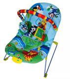 Cadeira cadeirinha de descanso bebê azul musica e vibração - Color baby