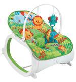 Cadeira Cadeirinha Descanso Para Bebe Balanço Musical Verde - Color baby