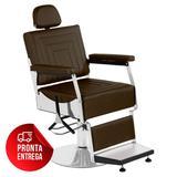 Cadeira de Barbeiro Reclinável Apolo Pé Redondo - Tera móveis