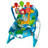Cadeira de descanso de bebe macia importway bw-046az azul