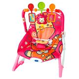 Cadeira de descanso de bebe macia importway bw-046rs rosa