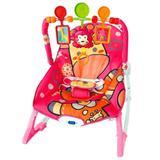Cadeira de Descanso Importway Macia com Vibração, Som e Base Curva Rosa BW046RS