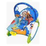 Cadeira de Descanso Musical C/ Balanço New Rock Azul - Color baby