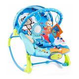 Cadeira De Descanso Musical e Vibratória Circo Divertido até 18 Kg Azul Dican