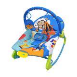Cadeira de Descanso Musical Vibratória e Balanço New Rocker Color Baby Azul