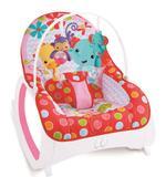 Cadeira de Descanso Musical Vibratória e Balanço Safari Color Baby Rosa - Colorbaby