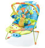 Cadeira de descanso reclinável com musica e vibração azul - Multikids