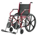 Cadeira de Rodas Aço Courvim Vinho 45 cm 1012 - BAXMANN E JAGUARIBE - Baxmann  jaguaribe